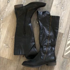Steve Madden 'Shawny' leather riding boot sz 7.5